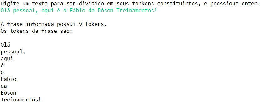 como tokenizar strings em Java