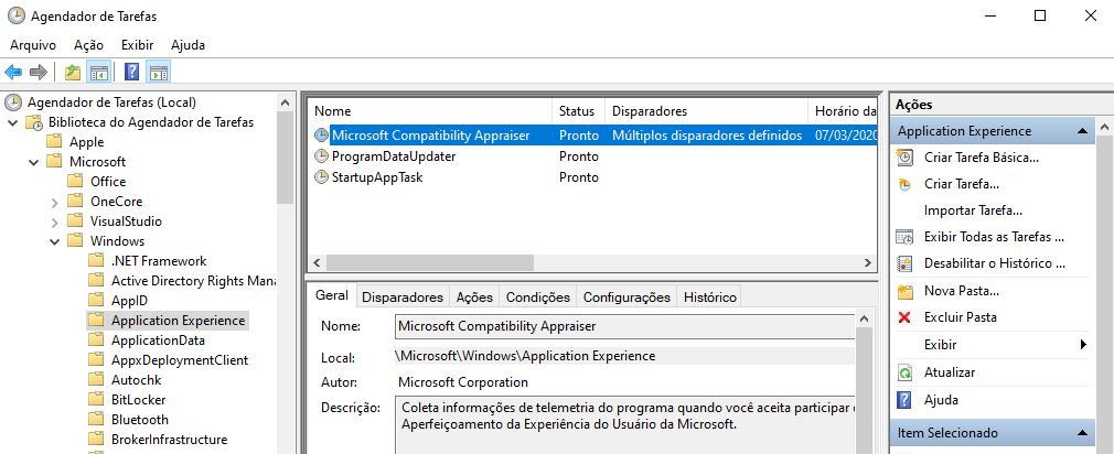 Desativar a telemetria de dados no Windows 10