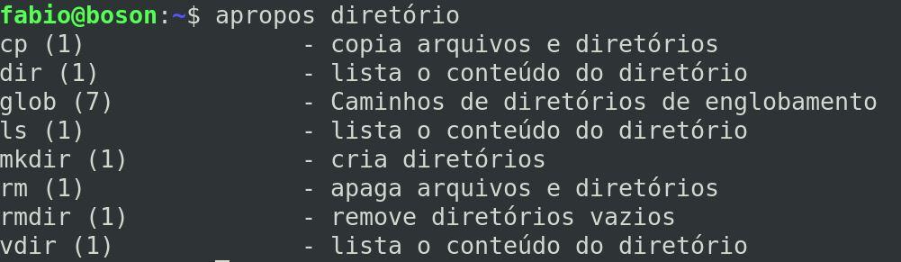 Comando Apropos no Linux