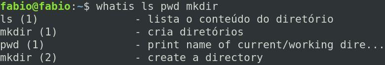 Comando whatis - ver ajuda no linux