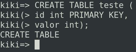 PostgreSQL create table kiki