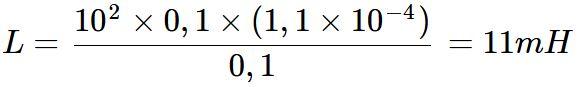Exercício de cálculo de indutância 02