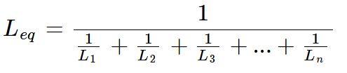 Fórmula da associação em paralelo de indutores