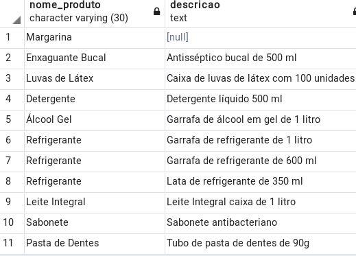 Exemplo 06 cláusula ORDER BY no PostgreSQL