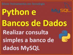 Consulta a banco de dados MySQL com Python