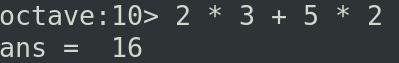 Exemplo 01 de cálculo com o GNU Octave