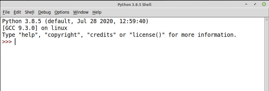 Executar o IDLE no Linux Mint para desenvolvimento em Python
