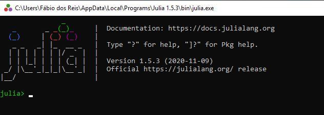 Instalação do Julia no Windows e teste