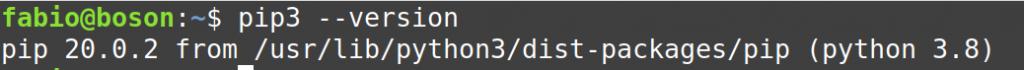 Verificar versão do pip no Linux