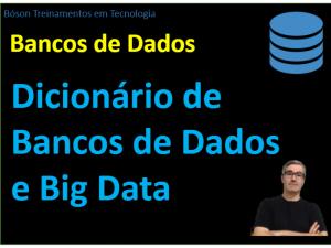Minidicionário de bancos de dados e big data