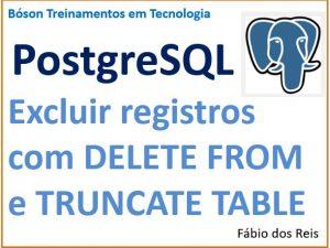 Apagar linhas em tabela do PostgreSQL