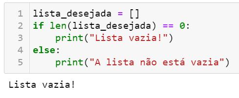 Verificar se lista está vazia em Python