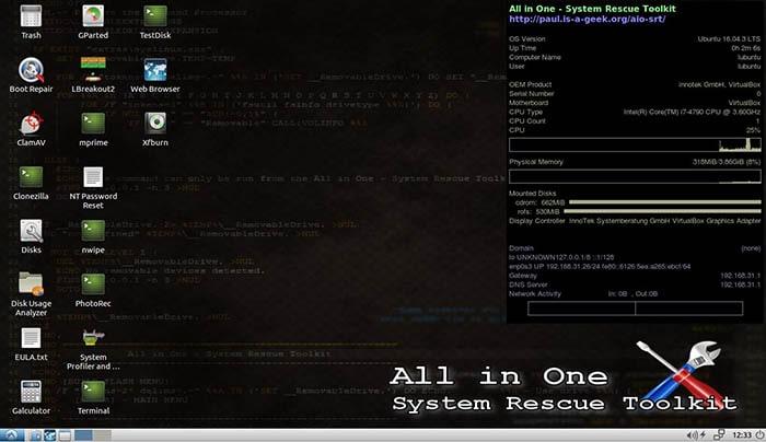 All in One Sstem Rescue Toolkit - Ferramentas de manutenção de sistemas
