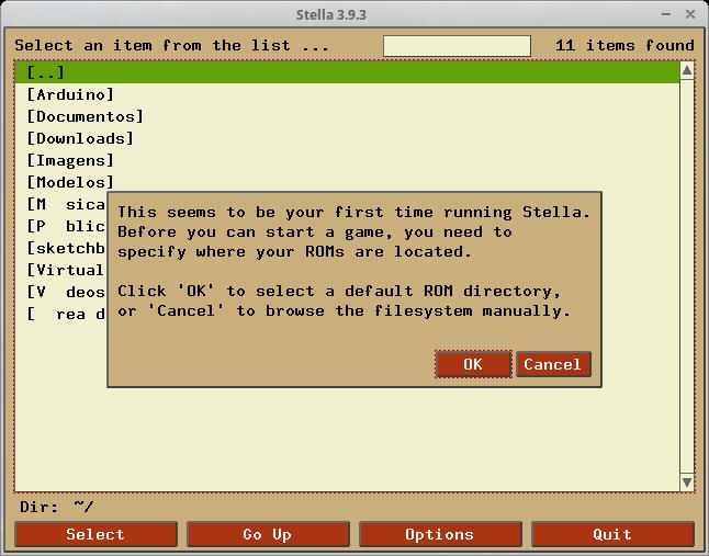 Configurar pasta de ROMs no Stella no Linux
