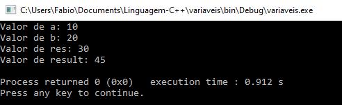 Declaração de variáveis em C++