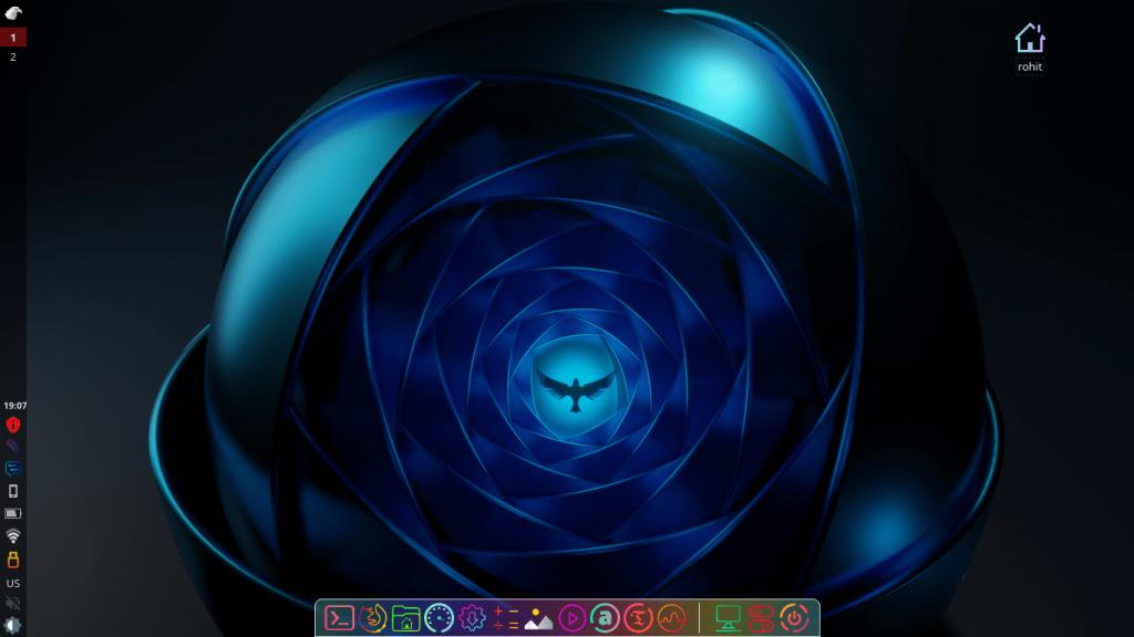 Garuda Linux com Desktop LXQT-Kwin