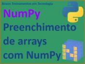 Como preencher arrays em NumPy com métodos variados