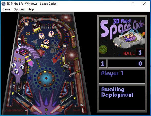 Space Cadet no Windows 10 - Fliperama