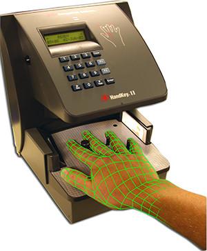 Scanner de geometria das mãos