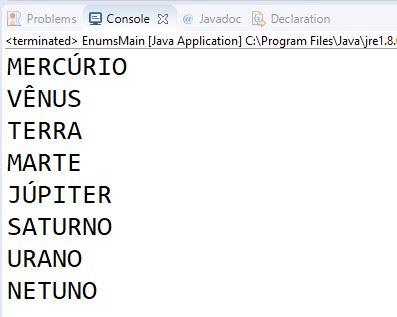 Iteração por valores em uma enumeração Java