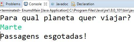 Teste de tipo enum em Java com Marte