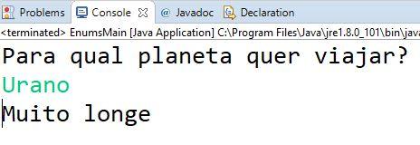 Teste de tipo enum em Java com Urano